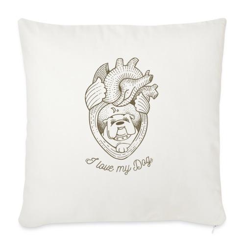 Dog_heart-png - Copricuscino per divano, 45 x 45 cm