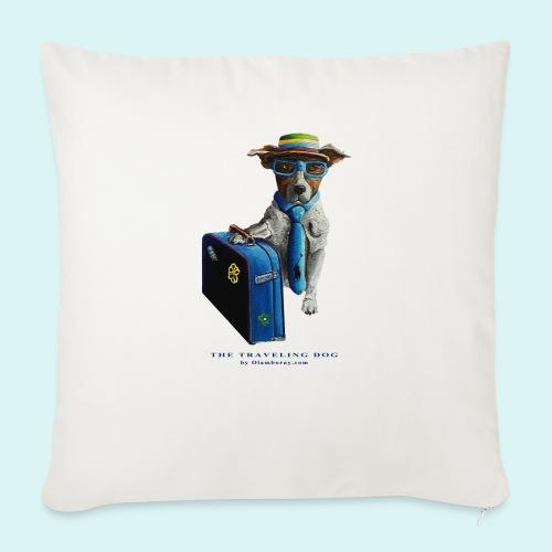 The Traveling Dog - Sofa pillowcase 17,3'' x 17,3'' (45 x 45 cm)