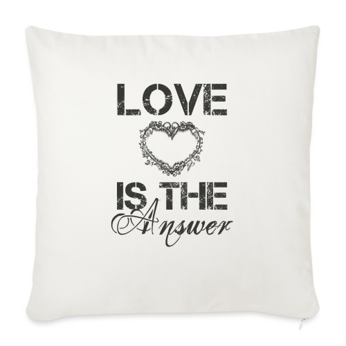 Love is the answer - Sofakissenbezug 44 x 44 cm