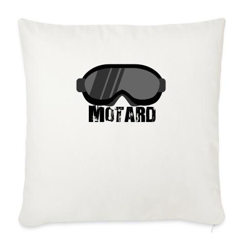 Motard Mask Moto Cross - Copricuscino per divano, 45 x 45 cm