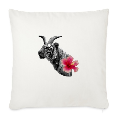 Horned Tiger Hibiscus graphic - Sofa pillowcase 17,3'' x 17,3'' (45 x 45 cm)