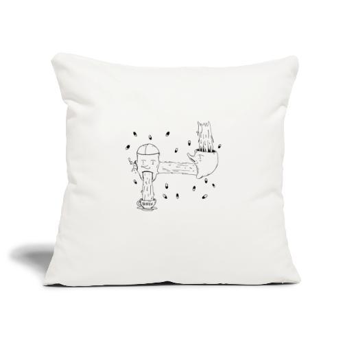 heads opinion - Sofa pillowcase 17,3'' x 17,3'' (45 x 45 cm)