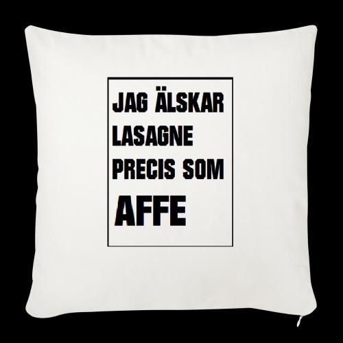 Affe älskar lasagne - Soffkuddsöverdrag, 45 x 45 cm