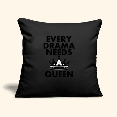 EVERY DRAMA black png - Sofa pillowcase 17,3'' x 17,3'' (45 x 45 cm)