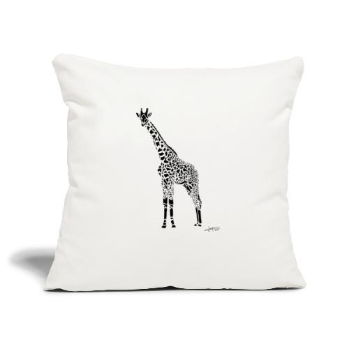 Black Girafe By Joaquín - Housse de coussin décorative 45x 45cm