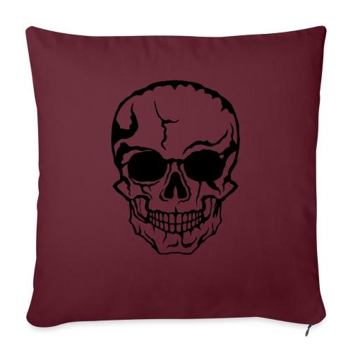 tete de mort halloween horreur dessin 21 - Housse de coussin décorative 45x 45cm