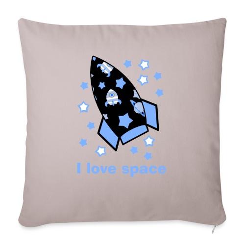 I love space - Copricuscino per divano, 45 x 45 cm