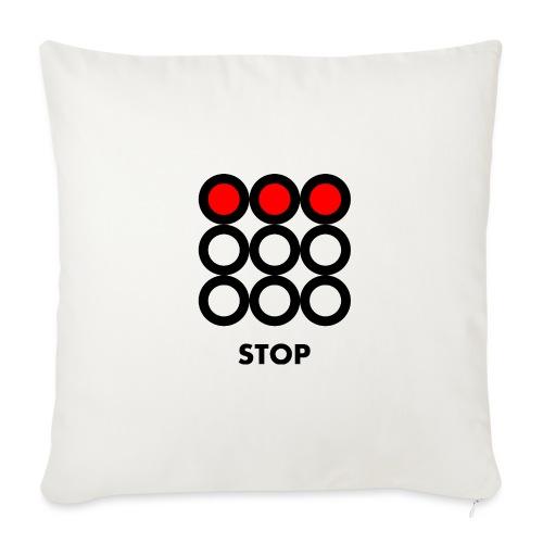 Stop. Vedi anche i motivi Wait e Go! - Copricuscino per divano, 45 x 45 cm