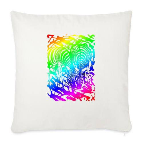 Rainbow Zebras - Sohvatyynyn päällinen 45 x 45 cm