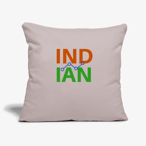 INDIAN CUSTOMISED TSHIRT - Soffkuddsöverdrag, 45 x 45 cm