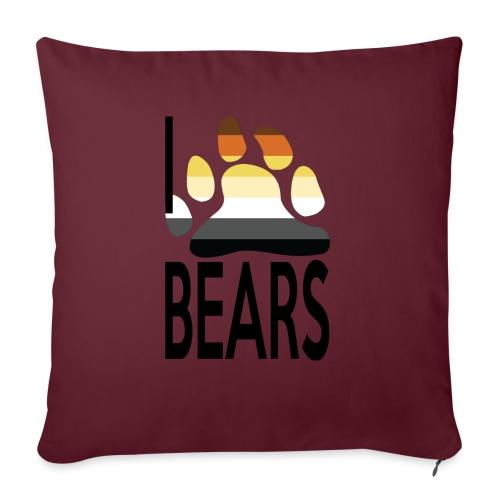 I love bears - Housse de coussin décorative 45x 45cm