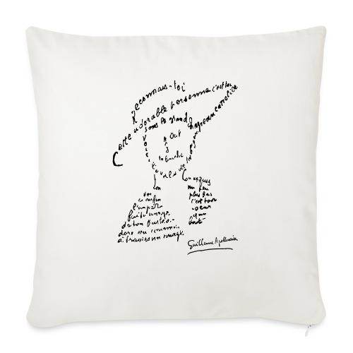 calligramme - Lou au chapeau - Housse de coussin décorative 45x 45cm