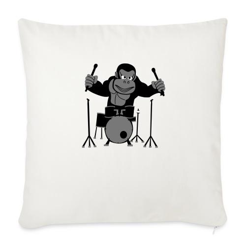 Drumming Gorilla - Sofa pillowcase 17,3'' x 17,3'' (45 x 45 cm)
