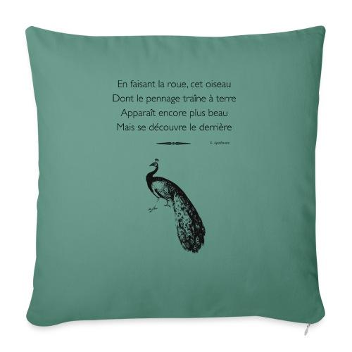 Le Paon d'Apollinaire - Housse de coussin décorative 45x 45cm