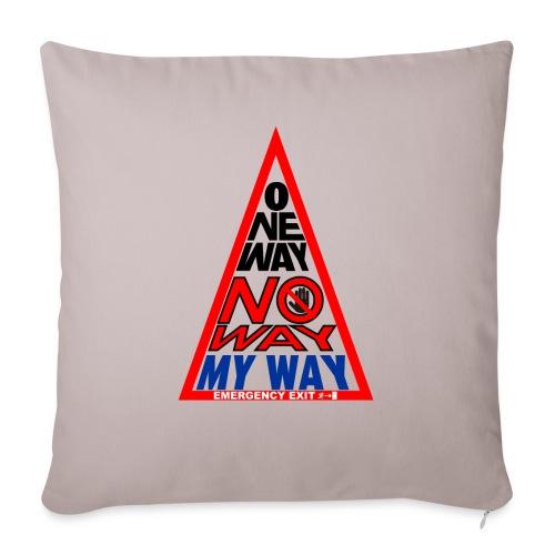 No way - Copricuscino per divano, 45 x 45 cm