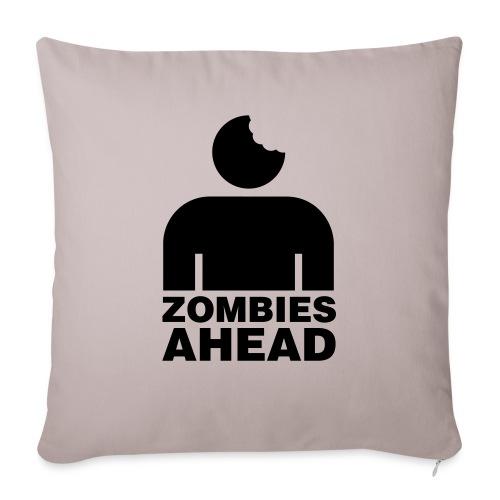 Zombies Ahead - Soffkuddsöverdrag, 45 x 45 cm