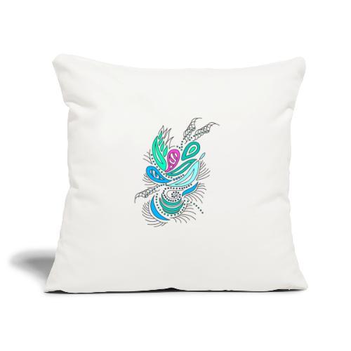 astratto foglie multicolore - Copricuscino per divano, 45 x 45 cm