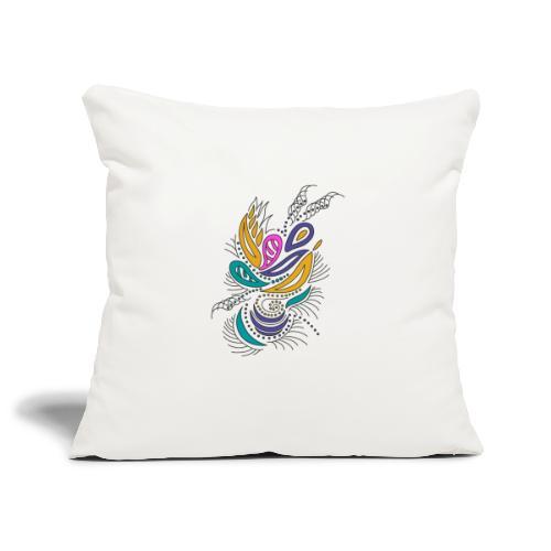 foglie geometriche multicolore - Copricuscino per divano, 45 x 45 cm