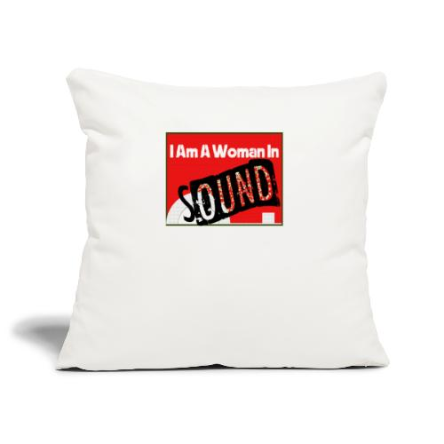 I am a woman in sound - red - Sofa pillowcase 17,3'' x 17,3'' (45 x 45 cm)