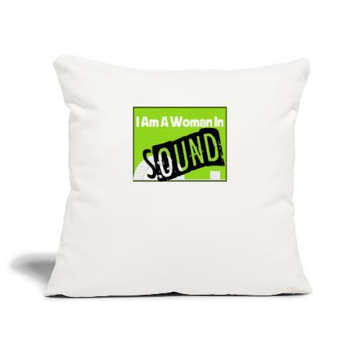 I am a woman in sound - Sofa pillowcase 17,3'' x 17,3'' (45 x 45 cm)