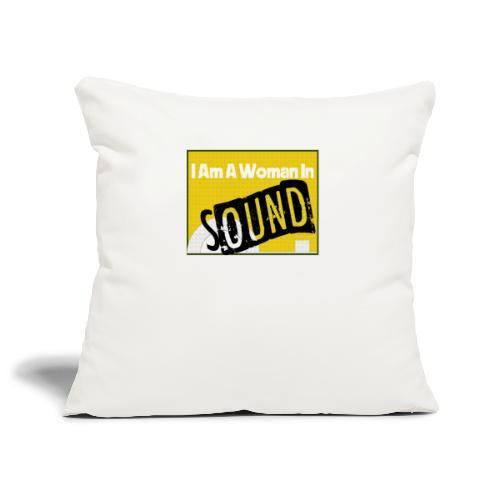 I am a woman in sound - yellow - Sofa pillowcase 17,3'' x 17,3'' (45 x 45 cm)