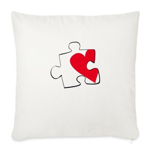 HEART 2 HEART HER - Copricuscino per divano, 45 x 45 cm