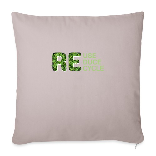REuse REduce REcycle - Copricuscino per divano, 45 x 45 cm