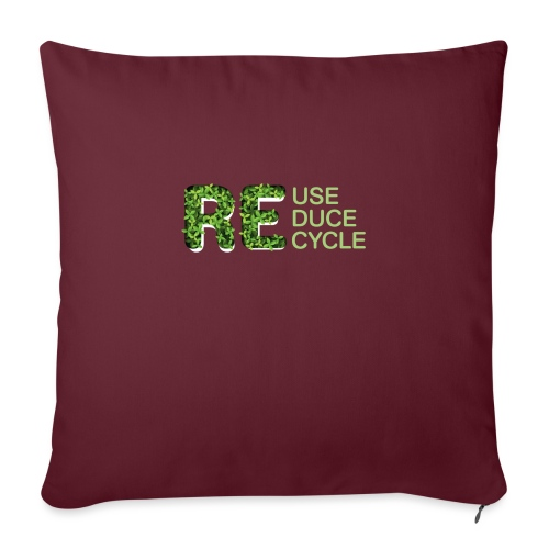 REuse REduce REcycle - Copricuscino per divano, 45 x 45 cm