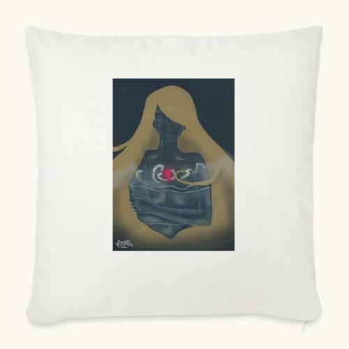 Femme en verre - Housse de coussin décorative 45x 45cm