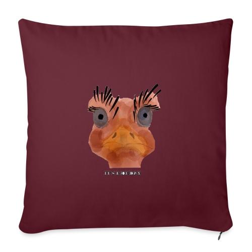 Srauss, again Monday, English writing - Sofa pillowcase 17,3'' x 17,3'' (45 x 45 cm)