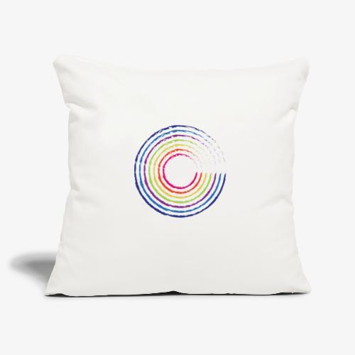 Circle rainbow - Copricuscino per divano, 45 x 45 cm