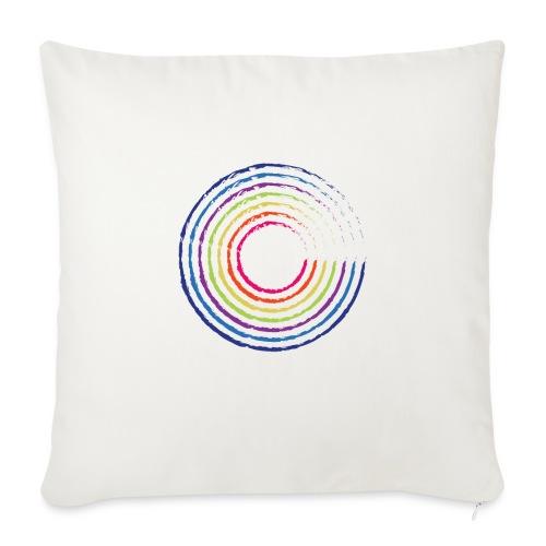 Cirkel regnbue - Pudebetræk 45 x 45 cm