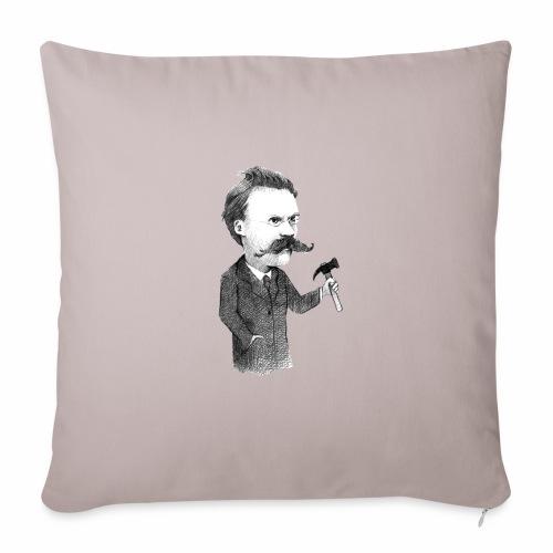 Nietzsche - Funda de cojín, 45 x 45 cm
