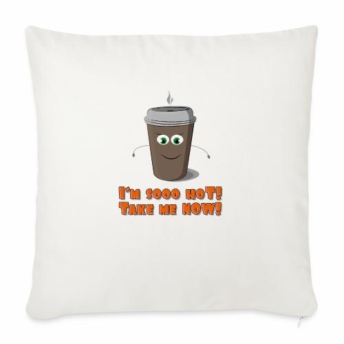 Coffee to go - Poszewka na poduszkę 45 x 45 cm
