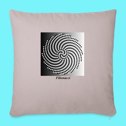 Fibonacci spiral pattern in black and white - Sofa pillowcase 17,3'' x 17,3'' (45 x 45 cm)