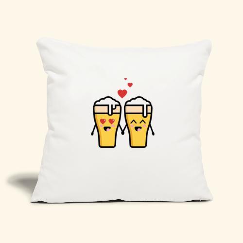 Beer love kawaii - Housse de coussin décorative 45x 45cm