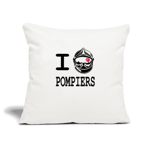 i_love_pompier_5 - Housse de coussin décorative 45x 45cm
