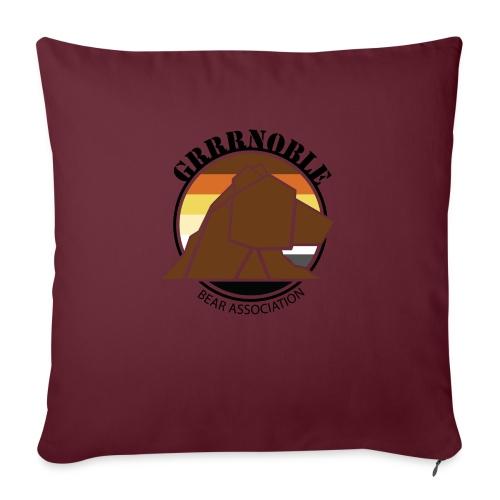 Logo 1 GRRRNOBLE BEAR ASSOCIATION - Housse de coussin décorative 45x 45cm