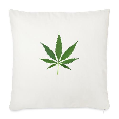 2000px-Cannabis_leaf_2 - Pudebetræk 45 x 45 cm