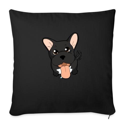 Bouledogue Francese nero - Copricuscino per divano, 45 x 45 cm
