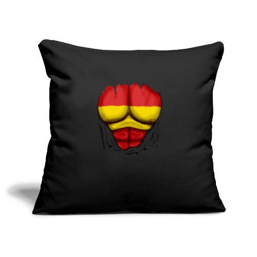 España Flag Ripped Muscles six pack chest t-shirt - Sofa pillowcase 17,3'' x 17,3'' (45 x 45 cm)