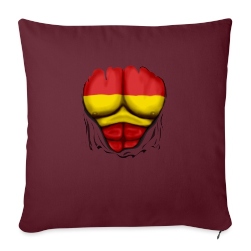 España Flag Ripped Muscles six pack chest t-shirt - Sofa pillowcase 17,3'' x 17,3'' (45 x 45 cm)