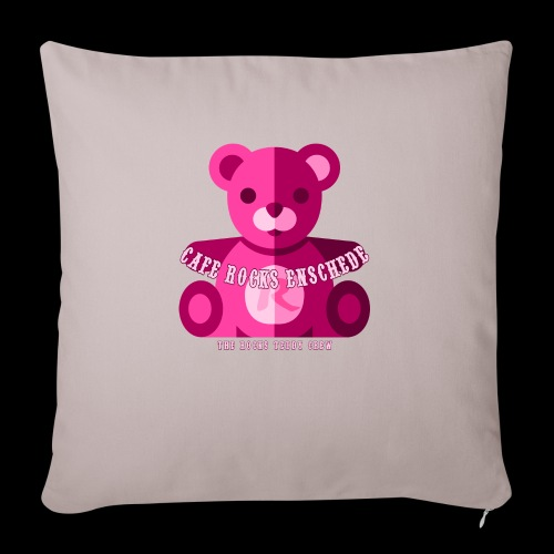 Rocks Teddy Bear - Pink - Sierkussenhoes, 45 x 45 cm