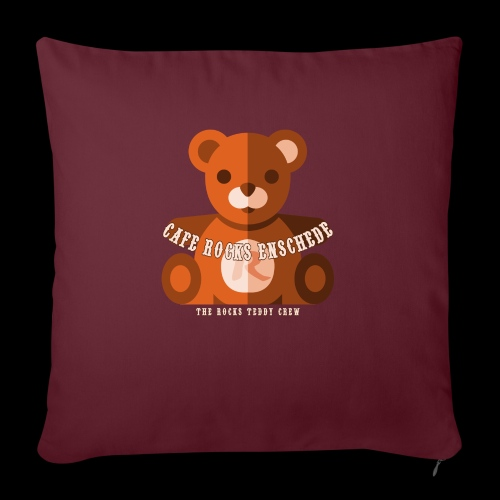 Rocks Teddy Bear - Brown - Sierkussenhoes, 45 x 45 cm