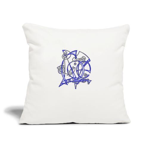 Blue Love - Sofa pillowcase 17,3'' x 17,3'' (45 x 45 cm)