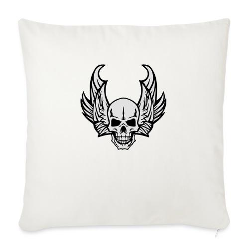 aile tete mort skull dead death wings - Housse de coussin décorative 45x 45cm