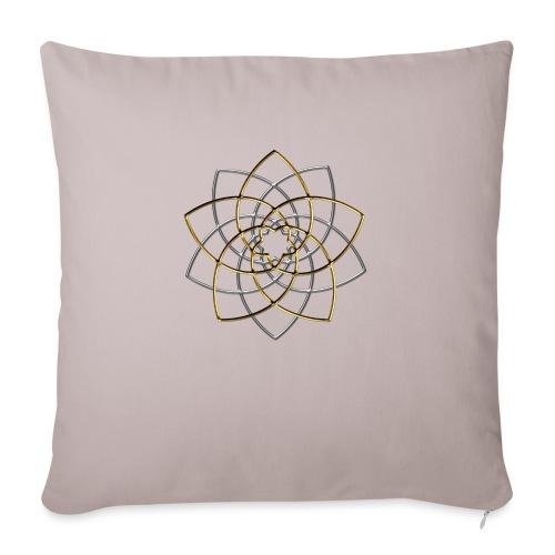 Venusblume, Symbol Harmonie & Schönheit, Orbit - Sofakissenbezug 44 x 44 cm