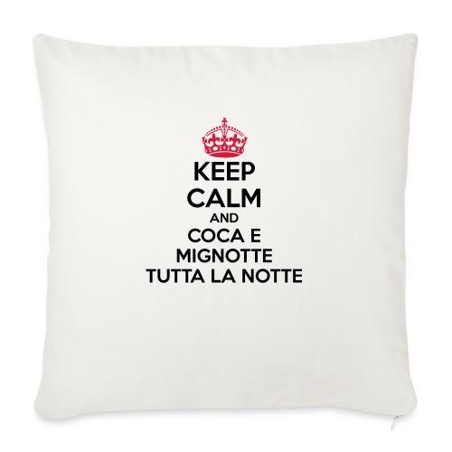 Coca e Mignotte Keep Calm - Copricuscino per divano, 45 x 45 cm