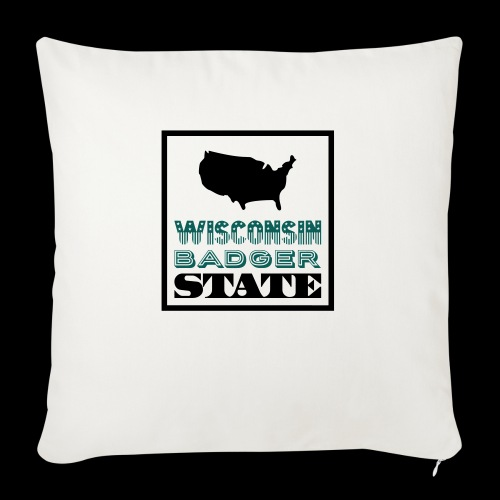 Wisconsin BADGER STATE - Sofa pillowcase 17,3'' x 17,3'' (45 x 45 cm)