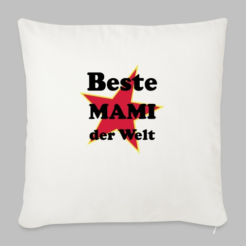 Beste MAMI der Welt - Mit Stern - Sofakissenbezug 44 x 44 cm